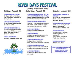 River Days Festival Schedule 1