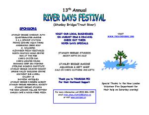 River Days Festival Schedule 2